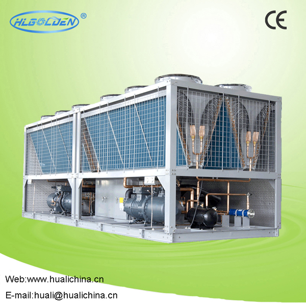Air-cooled screw type commercial water chiller for air conditioning use