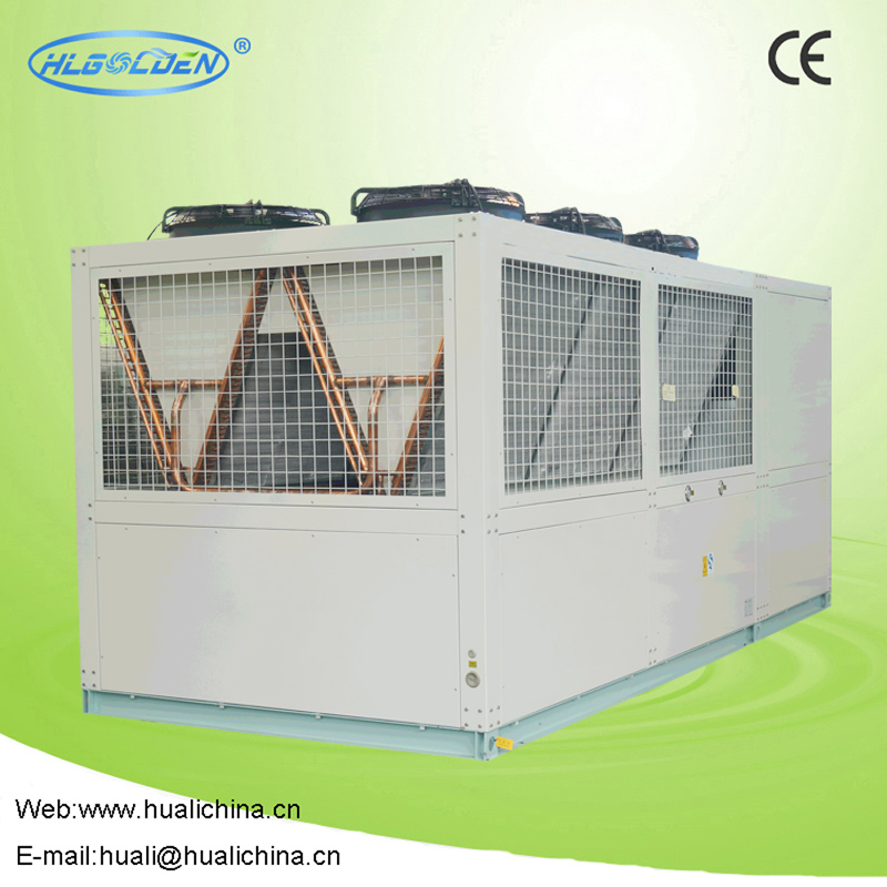 Air cooled screw compressor racks (Hanbell) cold storage for milk industry